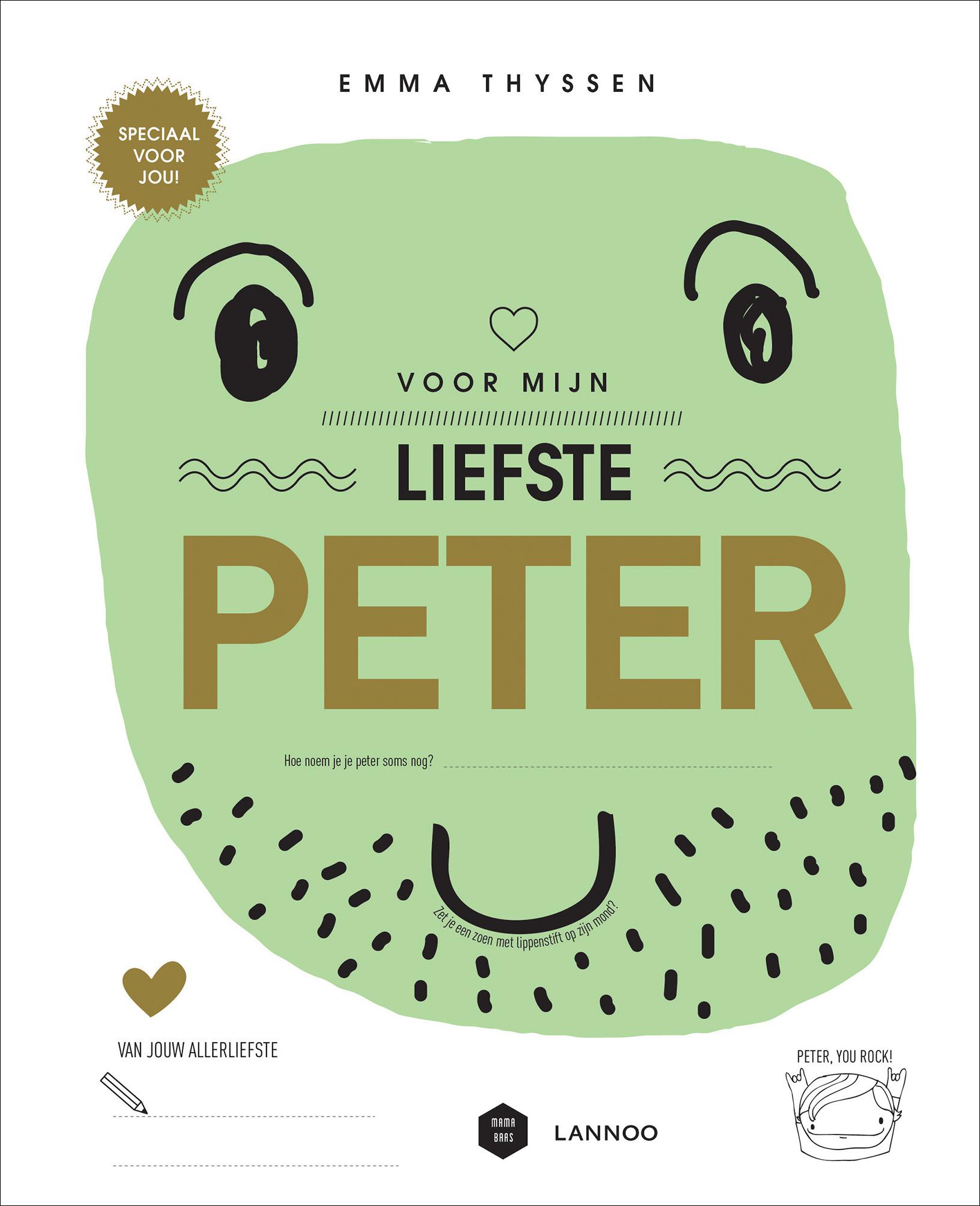 Onwijs Voor mijn liefste peter | Uitgeverij Lannoo TP-15