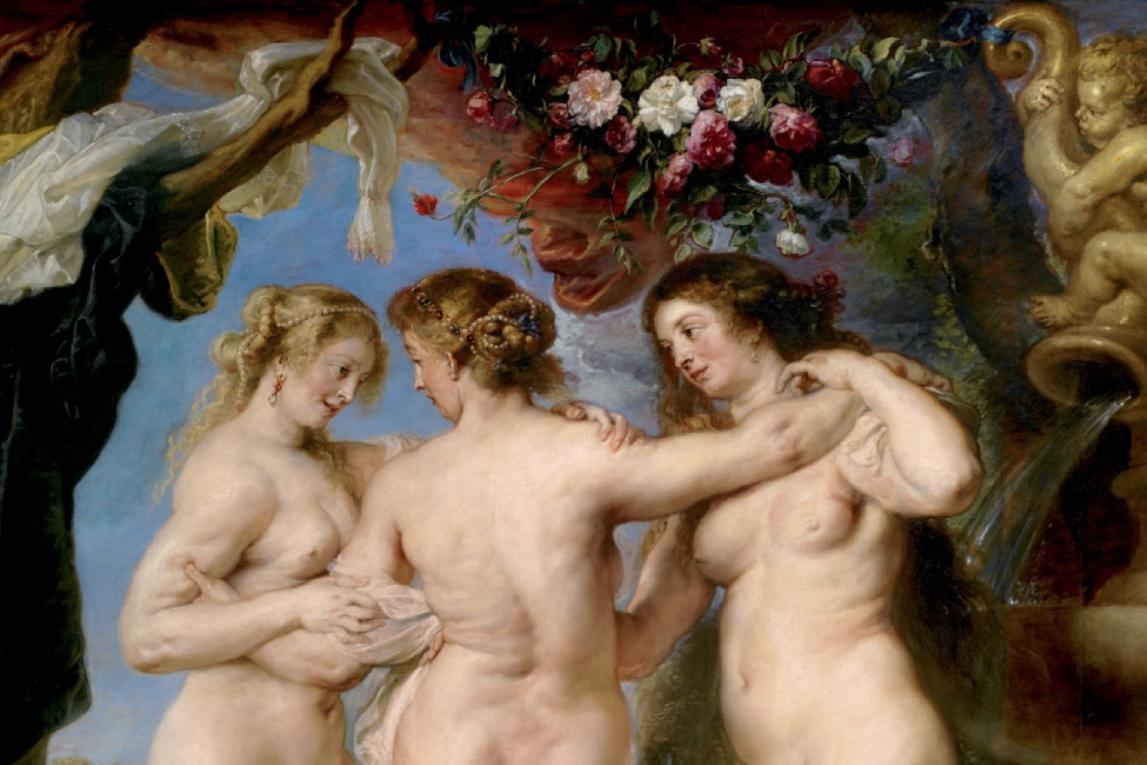 teaser de drie gratieën van Rubens