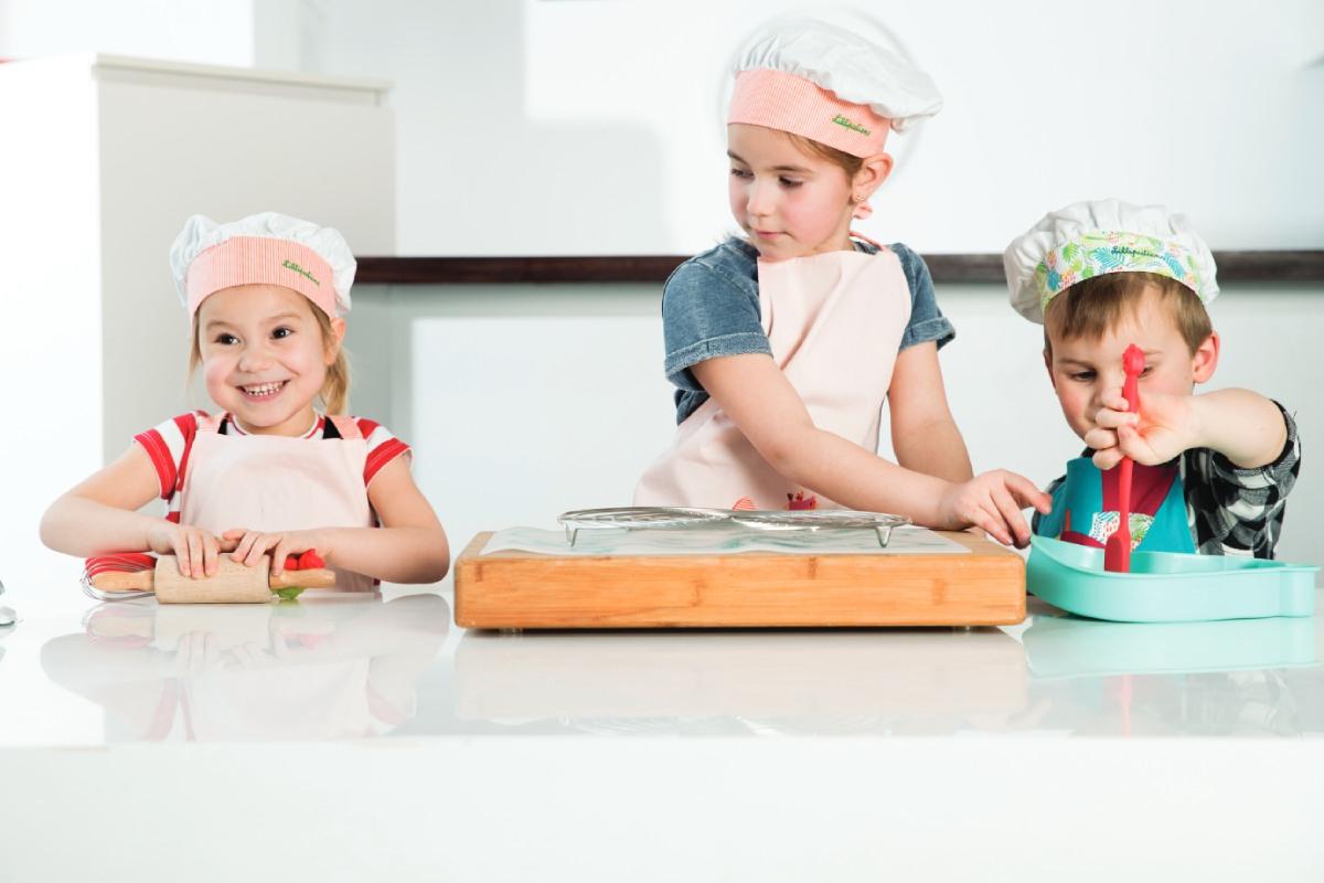 kinderen kokmuts keuken pot