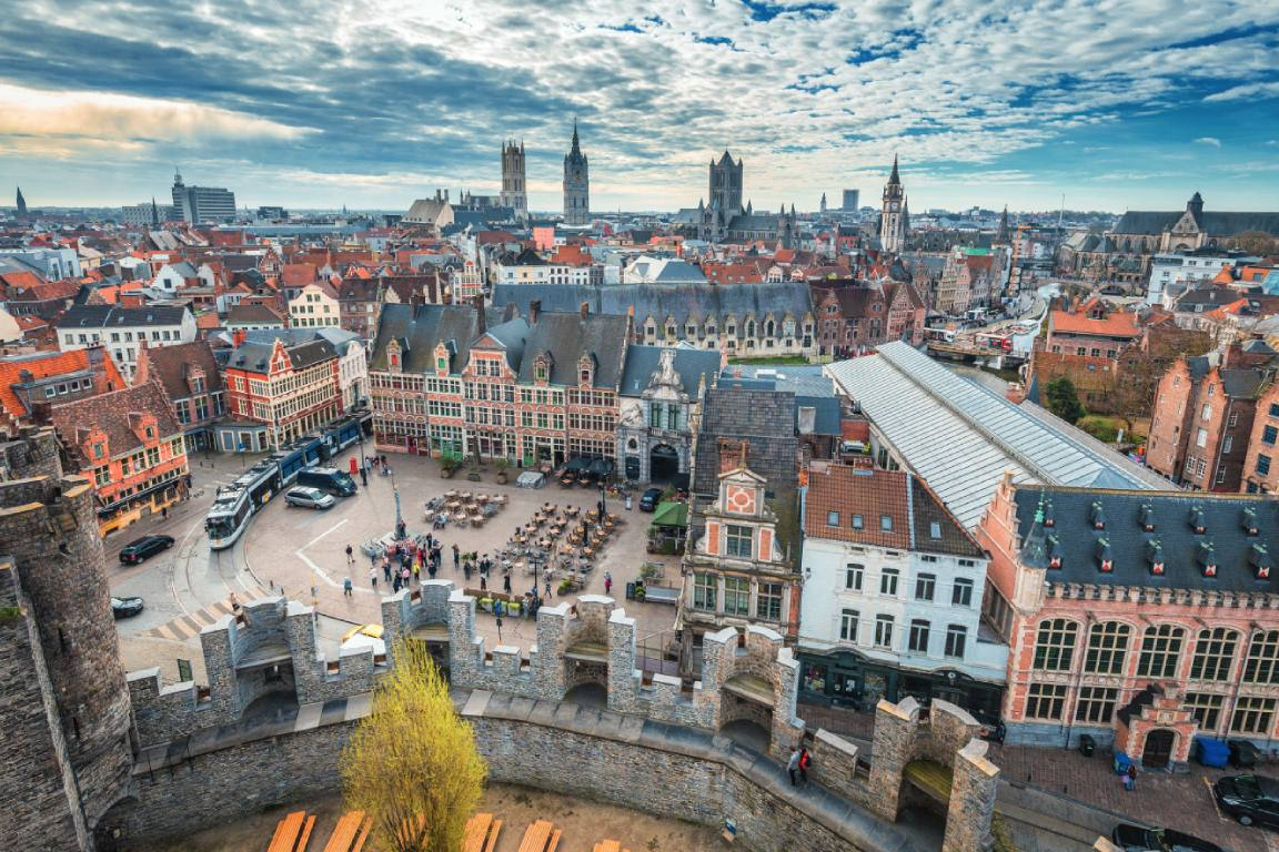 panorama van Gent