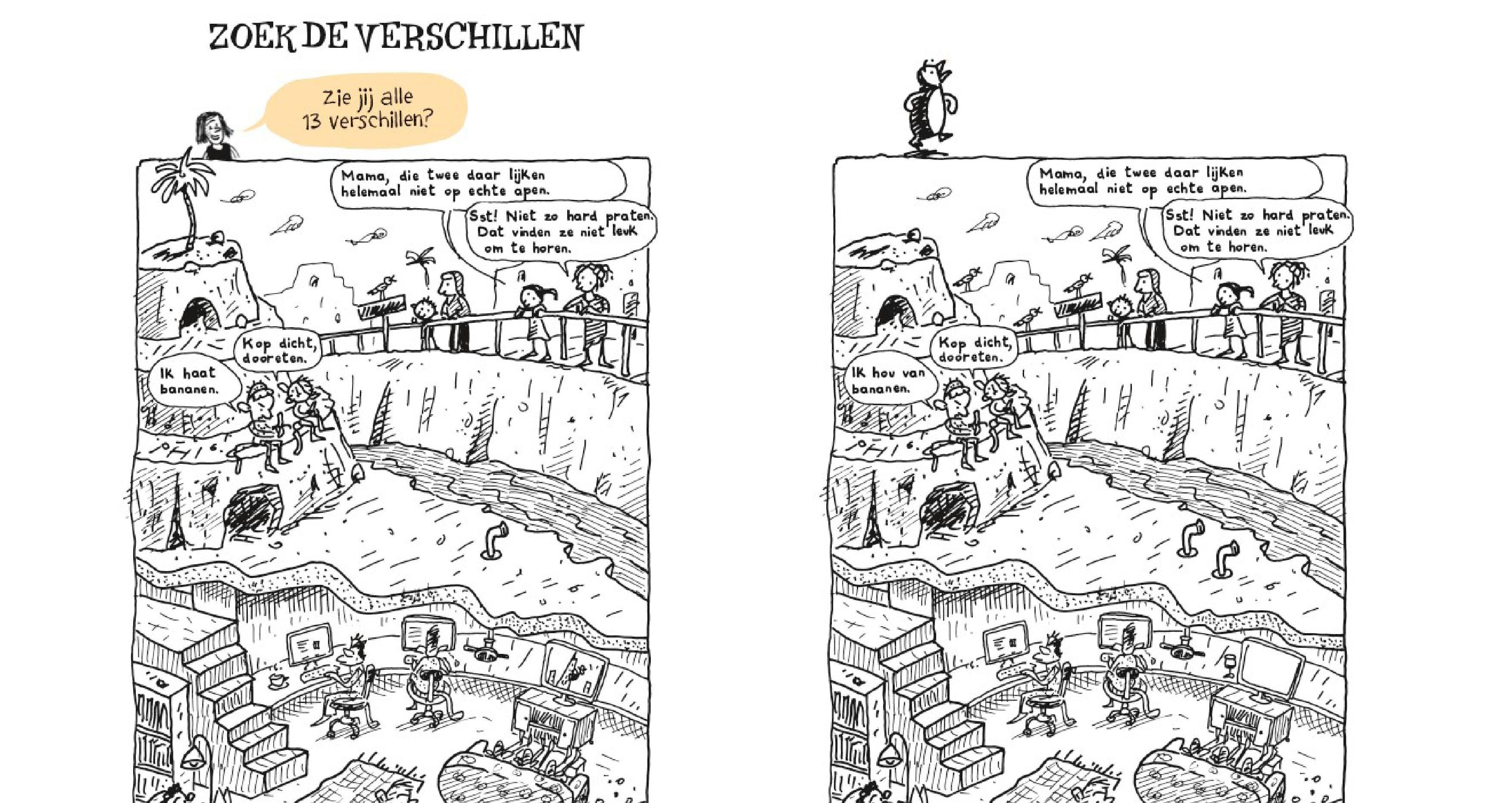 zoek de 13 verschillen - waanzinnige boomhut doeboek