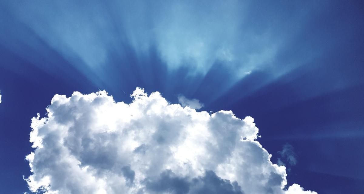 lucht wolk zon