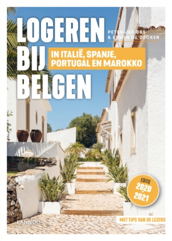 cover boek 'Logeren bij Belgen in Italië, Spanje, Portugal en Marokko'