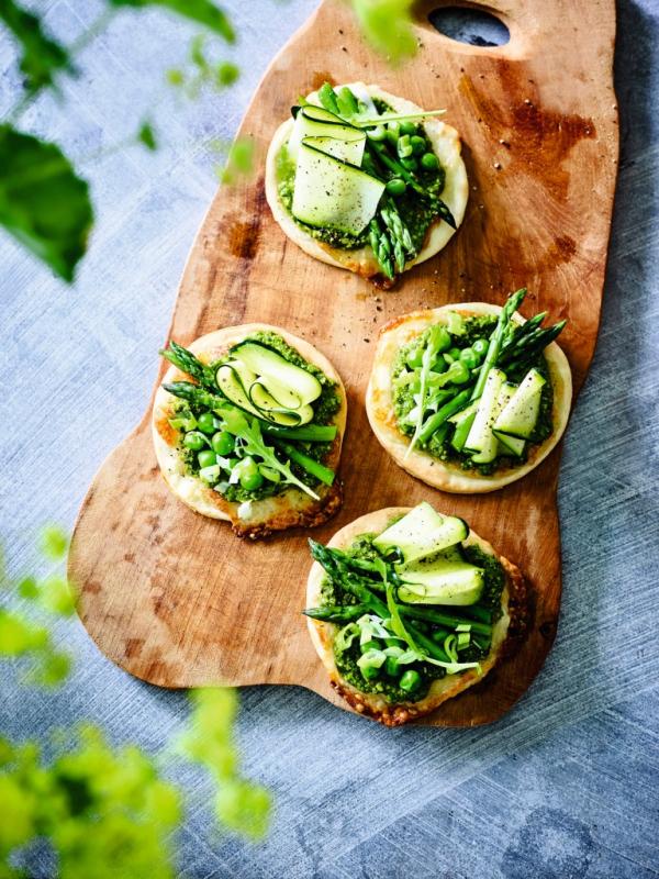 foto groene minipizza's