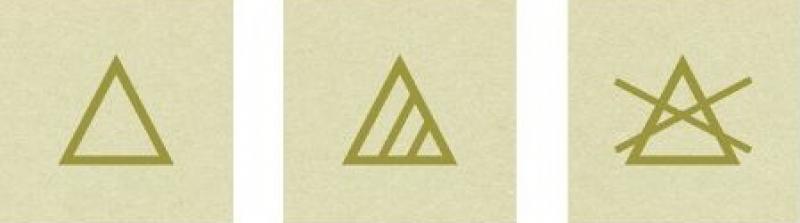 icoontjes driehoek