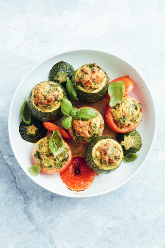 foto gerecht gevulde groenten met gehakt