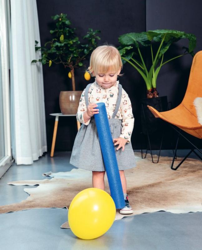 kind ballon stok huis